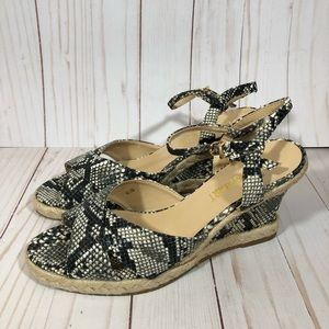 NEW Snake Skin Print Wedges